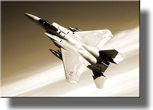 American Fighter Jet Pictur on Stretched Canvas, Wall Art Décor, Ready to Hang!