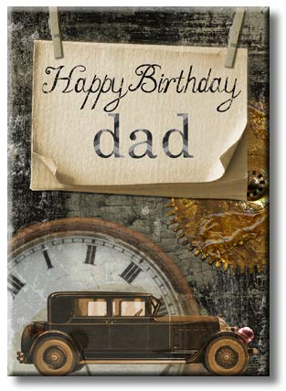 Wonderful Gift Happy Brithday Dad Picture on Stretched Canvas, Wall Art Décor, Ready to Hang