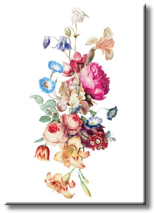 Floral Art Picture on Stretched Canvas, Wall Art Decor, Ready to Hang