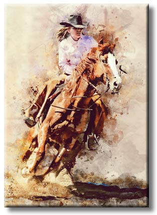 Cowgirl, Picture on Stretched Canvas, Wall Art Décor, Rredy to Hang