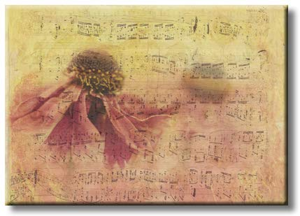 Music Notes Sheet, Picture on Streched Canvas, Wall Art Décor, Ready to Hang