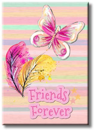 Friends Forever Picture on Stretched Canvas, Wall Art Décor, Ready to Hang