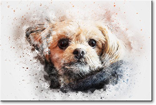 Puppy Head Picture on Stretched Canvas, Wall Art Décor, Ready to Hang