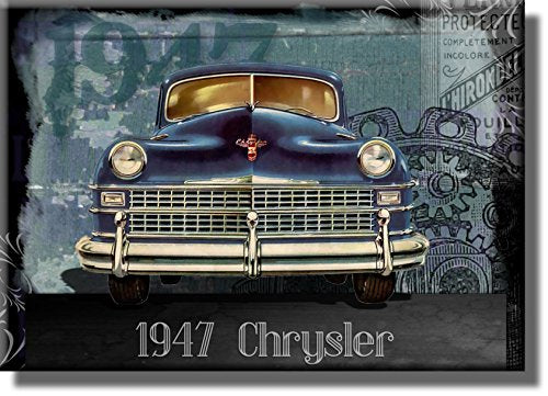 Vintage Chrysler, Classic Car Picture on Stretched Canvas, Wall Art Décor, Ready to Hang
