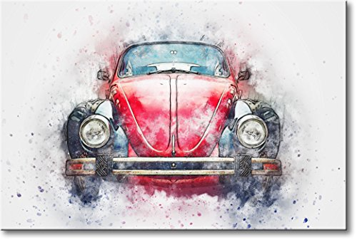 Vintage Volkswagen Picture on Stretched Canvas, Wall Art Décor, Ready to Hang