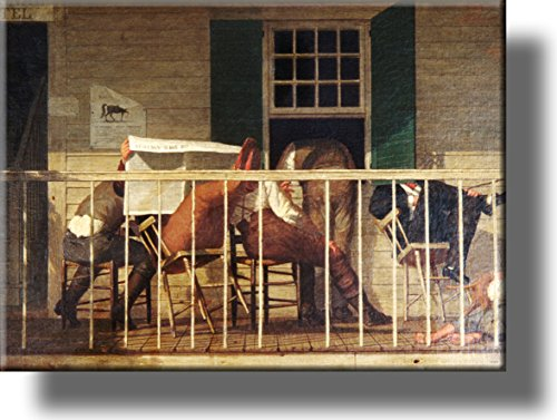 The True American Picture on Stretched Canvas, Wall Art Decor, Ready to Hang!