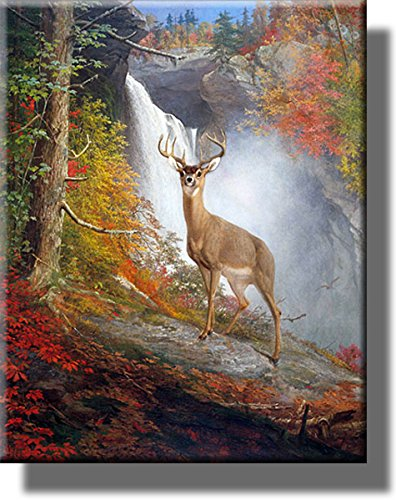 Majestic Stag Picture on Stretched Canvas, Wall Art Décor, Ready to Hang!