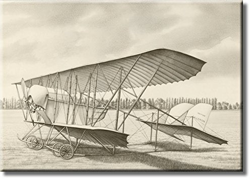 Vintage Aircraft Airplane, British Caudron Picture on Stretched Canvas, Wall Art Décor, Ready to Hang