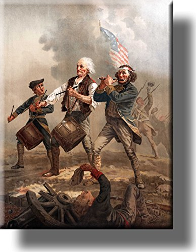 Yankee Doodle and Washington Civil War Battle Picture Made on Stretched Canvas Wall Art Decor Ready to Hang!.