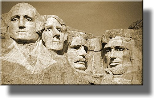 Mount Rushmore National Park Vintage Picture on Stretched Canvas, Wall Art Décor, Ready to Hang!