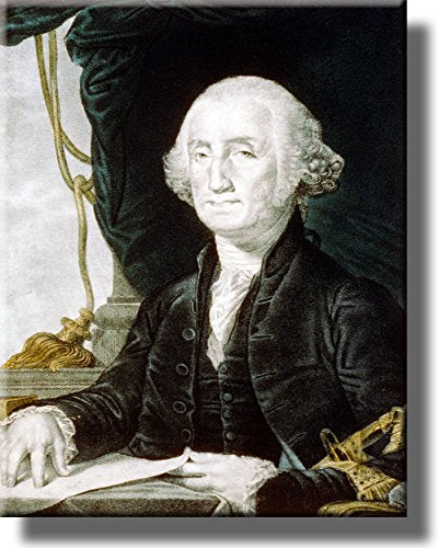 George Washington First President of United States Picture on Stretched Canvas, Wall Art Décor, Ready to Hang!