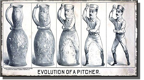 Baseball - Evolution of a Pitcher Painting on Stretched Canvas, Wall Art Decor Ready to Hang!.