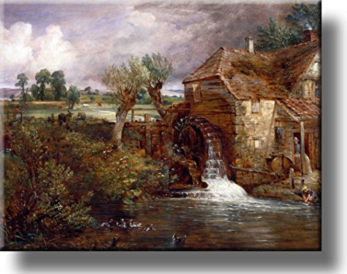 Parham Mill Painting Picture on Stretched Canvas, Wall Art Decor, Ready to Hang!