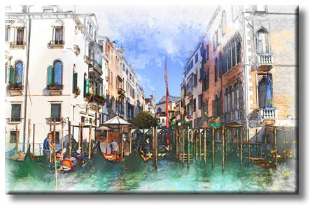 Venice Gondola Picture on Stretched Canvas, Wall Art Décor, Ready to Hang