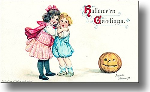 Hallowen Greeting by Frances Brundage Picture on Stretched Canvas, Wall Art Décor, Ready to Hang!