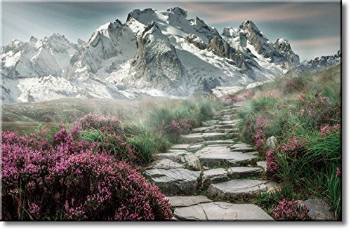 Mountain Landscape Picture on Stretched Canvas, Wall Art Décor, Ready to Hang