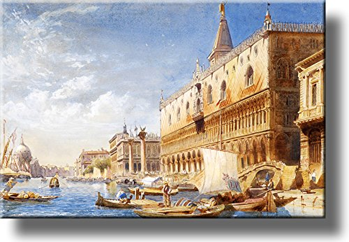 The Athenaeum-Venice Picture by Carl Friedrich Heinrich Werner on Stretched Canvas, Wall Art Décor, Ready to Hang!
