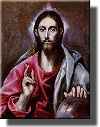 Jesus Christ by El Greco Wall Art Picture on Stretched Canvas, Ready to Hang!.