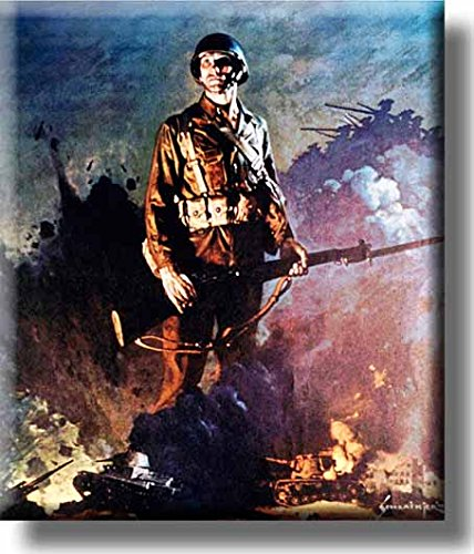Army Infantry Soldier Picture on Stretched Canvas, Wall Art decor, Ready to Hang!