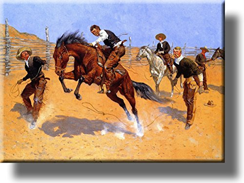 Turn Him Loose Cowboy Picture on Stretched Canvas, Wall Art Décor, Ready to Hang!