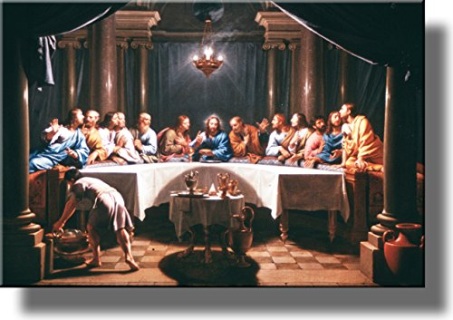 The Last Supper by Champaigne Picture on Stretched Canvas, Wall Art Decor, Ready to Hang!