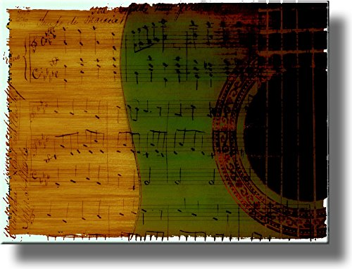 Musical Notes Picture on Stretched Canvas, Wall Art Decor, Ready to Hang!
