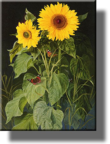 Sunflowers Picture by Fristrup on Stretched Canvas, Wall Art Décor, Ready to Hang!