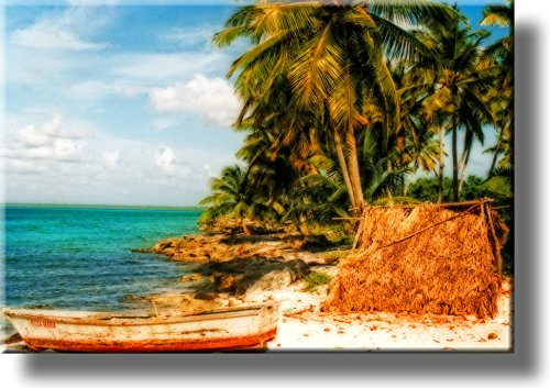 Dreamy Beach Picture on Stretched Canvas, Wall Art Décor, Ready to Hang!