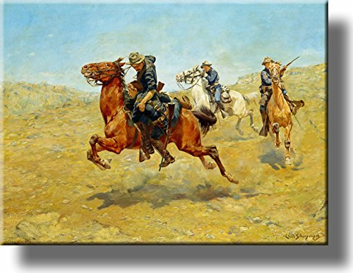 My Bunkie by Charles Schreyvogel Cowboy Picture on Stretched Canvas, Wall Art Décor, Ready to Hang!