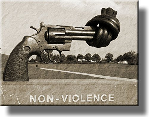 Non-violence Gun Picture on Stretched Canvas, Wall Art Décor, Ready to Hang!