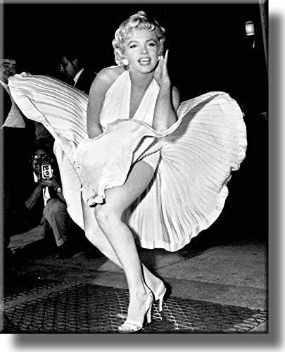Original Marilyn Monroe Pose Picture on Stretched Canvas, Wall Art Décor, Ready to Hang!