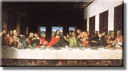 The Last Supper by Leonardo da Vinci Picture on Stretched Canvas, Wall Art Décor, Ready to Hang!