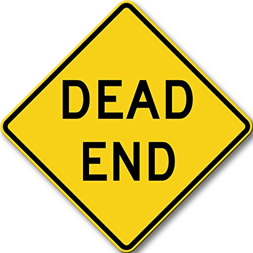 Dead End Sign Picture on Stretched Canvas, Wall Art Décor, Ready to Hang!