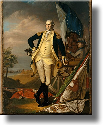 George Washington Portrait Picture on Stretched Canvas, Wall Art Decor, Ready to Hang!