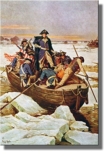 George Washington Crossing Delaware Picture Made on Stretched Canvas Wall Art Decor Ready to Hang!.