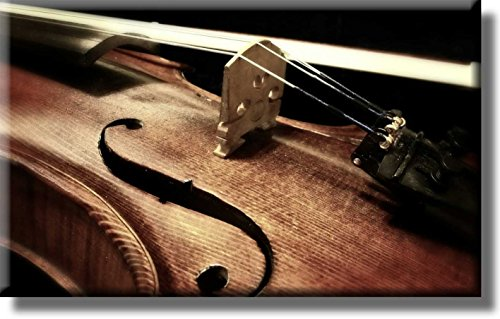 Violin Close Up Picture on Stretched Canvas, Wall Art Décor, Ready to Hang
