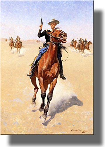 The Cowboy Trooper Picture on Stretched Canvas, Wall Art Décor, Ready to Hang!