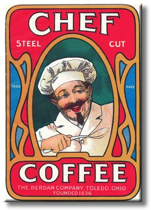 Best Kitchen Chef Coffee Elegant Sign Picture on Stretched Canvas, Wall Art Décor, Ready to Hang