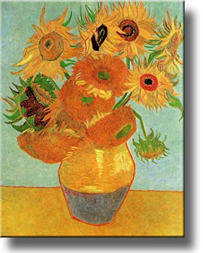 Still Life Vase with Sunflowers By Vincent Van Gogh on Stretched Canvas, Wall Art Decor Ready to Hang!.