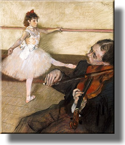 The Dance Lesson Picture on Stretched Canvas, Wall Art Décor, Ready to Hang!