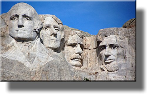 Mount Rushmore National Park Picture on Stretched Canvas, Wall Art Decor, Ready to Hang!