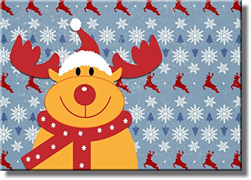 Rudolph the Red Nose Reindeer Picture on Stretched Canvas, Wall Art Décor, Ready to Hang
