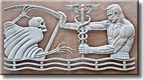 Death Versus Medicine Picture on Stretched Canvas, Wall Art Décor, Ready to Hang