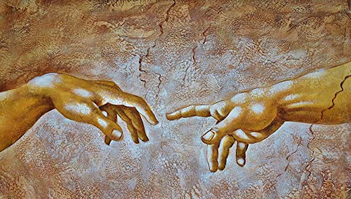 Hands by Leonardo da Vinci Picture on Stretched Canvas, Wall Art Decor, Ready to Hang