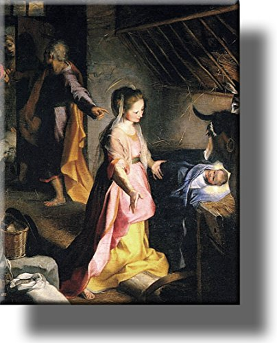 The Nativity Jesus Christ Picture on Stretched Canvas, Wall Art Décor, Ready to Hang!