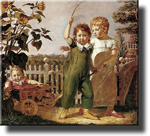 The Huelsenback Children by Philipp Otto Runge Picture on Stretched Canvas, Wall Art Décor, Ready to Hang!