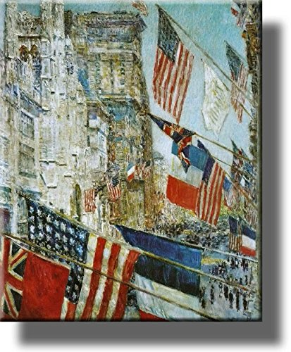 Allies Day Parade Picture on Stretched Canvas, Wall Art Décor, Ready to Hang!