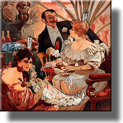 Elegant Biscuits Champagne Party Picture on Stretched Canvas, Wall Art Décor, Ready to Hang!