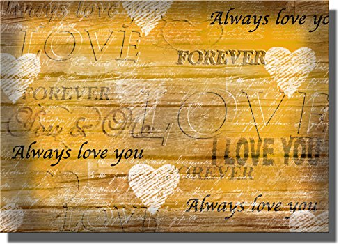 Always Love You, I Love You Forever Sign, Wall Picture on Stretched Canvas Art Ready to Hang!