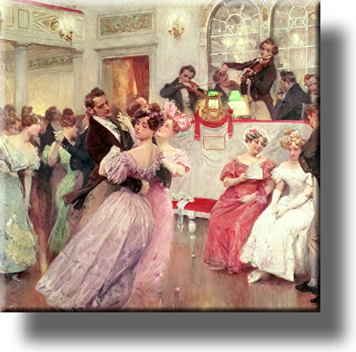 Waltz Dance Vintage Picture on Stretched Canvas, Wall Art Décor, Ready to Hang!